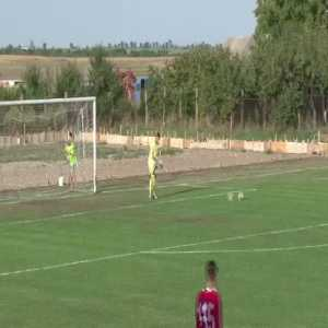 Romanian 4th league can be brutal. Fouled by a dog