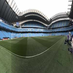 All quiet at Etihad for now ahead of Man City/Lyon. And maybe later too, only around 36,000 expected for the game, approx 18k under capacity