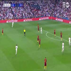 Isco with a nice first touch vs Roma