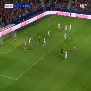 Plzen 2-0 CSKA Moscow - Michael Krmencik 41'