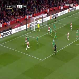 Arsenal 2-0 Vorskla - Danny Welbeck 48'