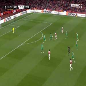 Arsenal 3-0 Vorskla - Pierre-Emerick Aubameyang 56'