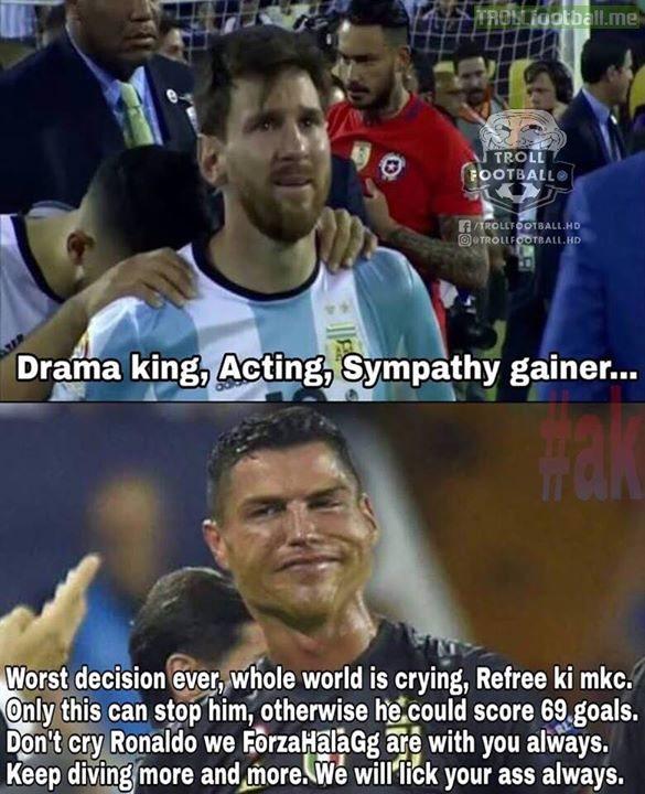 Double standards lol..