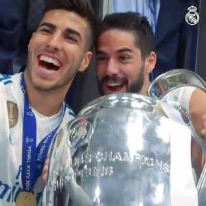 """Isco during CL final celebrations: """"I want a Copa del Rey now."""" Modric: """"You have one!"""" Isco: """"I have one, but since we have a new king it's expired."""""""