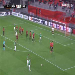 Rennes 1-[1] Jablonec - Michal Travnik free-kick 54'