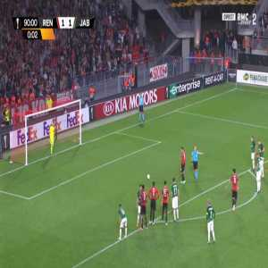 Rennes [2]-1 Jablonec - Hatem Ben Arfa penalty 90'+1'