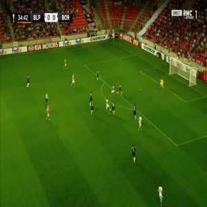 Slavia Praha 1-0 Bordeaux - Jaromir Zmrhal 35'