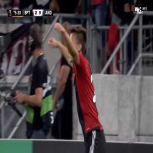 Spartak Trnava 1-0 Anderlecht - Matej Oravec 79'