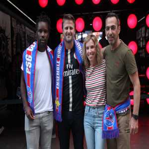 Youri Djorkaeff was present as PSG opens a pop-up club store in New York in collaboration with the Jordan brand