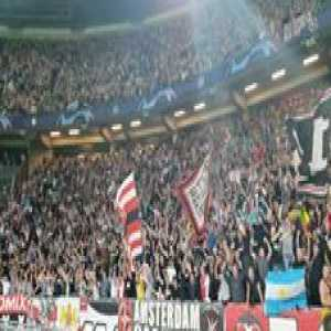 Ajax - AEK Athens, incredible crowd chants, also moment of 3-0 (sorry fb link)
