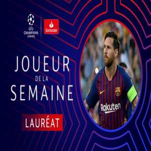 Leo Messi voted Champions League Player of the Week
