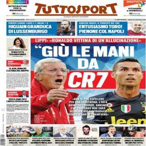 "[Tuttosport] Marcello Lippi:""Hands off CR7. Cristiano Ronaldo's a victim of a hallucination. You can't send someone off for a tousle. UEFA must admit the mistake on CR7's sending off & announce he won't be suspended."""