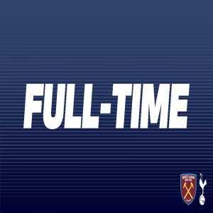 Full-time: West Ham U18 0 - 9 Tottenham U18
