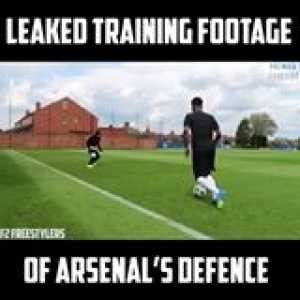So THIS is why Arsenal's defence leak so many goals 😂😂