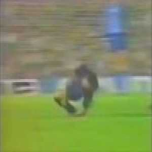 "Exactly 35 years ago, the Butcher of Bilbao did this to Maradona and only received a yellow card for it. It started a scandal that caused to currently consider it as ""the tackle that changed Spanish and European football's history""."