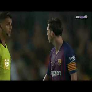 Lionel Messi refused to shake hands with the referee after the end of the match