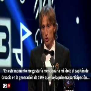 "Tancredi Palmeri: Let's leave Cristiano and Messi at their home counting their awards. From yesterday night let's save this, a demonstration of humbleness and commitment from Modric, the tears of Boban, The deepest meaning of football: ""for the others"", not ""for me"""