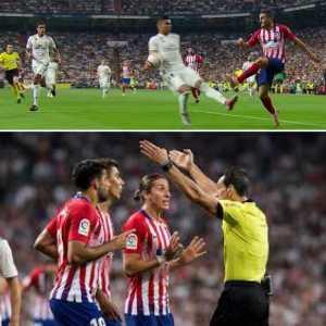 Atletico de Madrid protest against last night referee