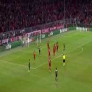 Neuer casual save with his leg Vs Ajax.