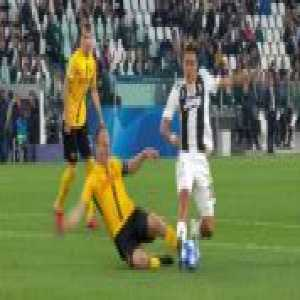 Paulo Dybala penalty not given against Young Boys