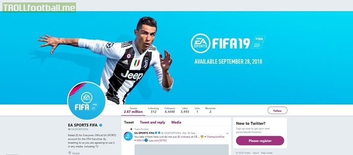 They've changed the FIFA 19 webpage cover due to CR7's ongoing rape case to show that they do not support harassment to women. FIFA19 JusticeForWomen LeftFooty365