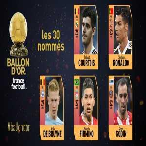 Next 5 Ballon d'Or nominees: Courtois, Ronaldo, Godin, Firmino & De Bruyne