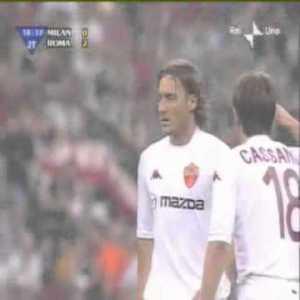 Classic Totti free kick (Milan-Roma, Coppa Italia final 2003)