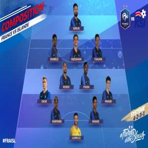 French team starting XI against Iceland