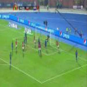 Egypt 4-0 Eswatini - Mohamed Salah corner kick 45'
