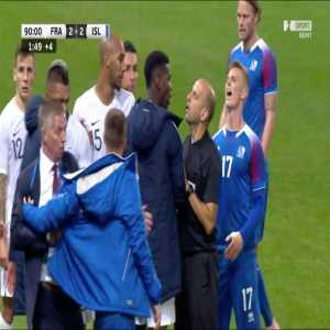 Icelandic national team security officer joking on Twitter following French indignation at Mbappe being touched