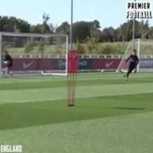 Marcus Rashford has been scoring for fun in England training 🔥