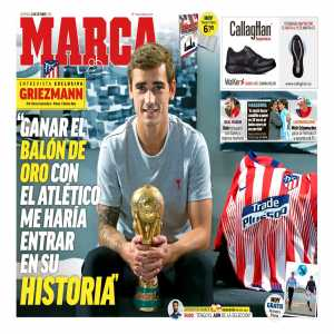 """Antoine Griezmann: """"Winning the Ballon d'Or would make me enter the history of Atletico Madrid"""""""