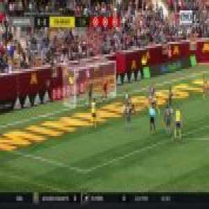 Insane goal-line scramble in the match between Colorado Rapids and Minnesota United