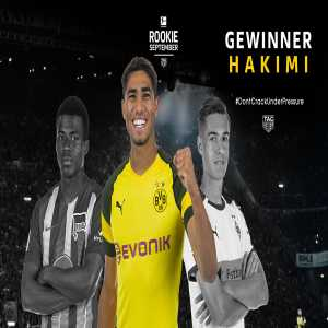 "Achraf Hakimi is the Bundesliga ""Rookie of the Month"""