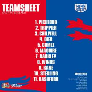 England XI vs Spain (UEFA Nations League)