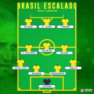 Brazil starting XI against Argentina