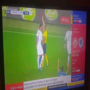 Harsh red card decision on Jason Demetriou in Slovenia v Cyprus game