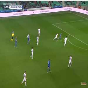 Slovenia 0-1 Cyprus - Fotis Papoulis 37'
