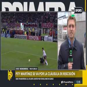 [TNT Sports] Reports out of Argentina say that Atlanta United officials met with River Plate officials yesterday in Recoleta, Buenos Aires and officially sealed the move for Pity Martinez for his termination clause (a little over $17 million)
