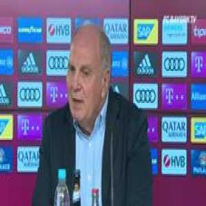 "Uli Hoeneß: ""You guys keep asking why we sold Juan Bernat, as if the sale of him is the only reason we are losing. Just look at the Sevilla game and see that this Juan Bernat almost single-handedly made us get knocked out with his errors."""