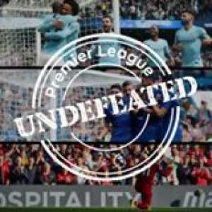 1 Manchester City   2 Chelsea Football Club   3 Liverpool FC    All in Premier League action on Saturday. All Undefeated