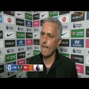 Jose Mourinho Post Match Interview