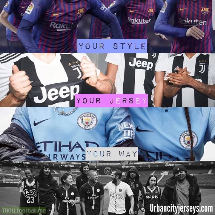 Urban City Jerseys will have you looking like a champion this season!   Use Code: ELCLASICO10 for 10% off all tracksuits PLUS free shipping on all orders this month!   👇👇👇 WWW.URBANCITYJERSEYS.CO