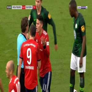 Arjen Robben second yellow card against Wolfsburg 57'