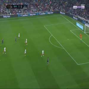 Barcelona 2-0 Sevilla - Lionel Messi 12'