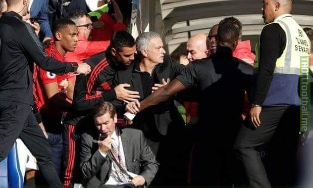 """""""I was celebrating so I didn't see what happened on the pitch. I immediately spoke to Mourinho and I understood that it was our mistake. After the game, I told my assistant that you made a mistake so I took my assistant to Mourinho and asked my assistant to apologize for his mistake. I will speak to Mourinho again and I'll explain him that it was our mistake and I'll apologize to him"""" - Sarri"""