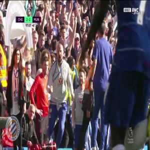 Mourinho / Chelsea staff incident after Chelsea second goal