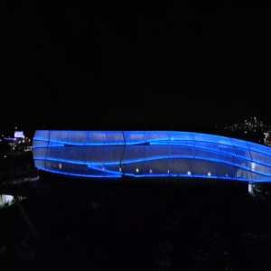 Video of Allianz Field's color-changing lighting (Newest MLS Stadium in Minnesota)