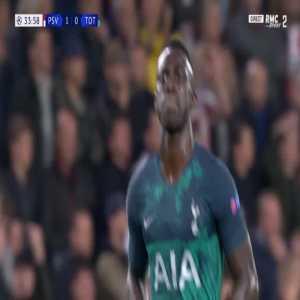 Davinson Sanchez disallowed goal against PSV 34'