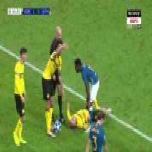 Lemar kicks Piszczek in the head (BVB - Atletico)